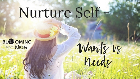 Nurture Self – Want Vs Need