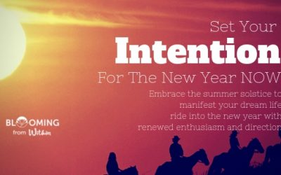 Set your intention for the new year – NOW